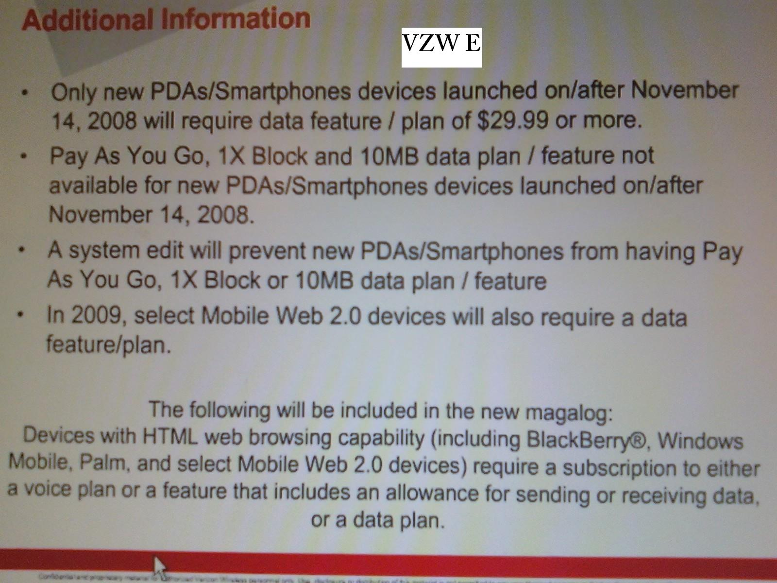 Leaked Verizon Document