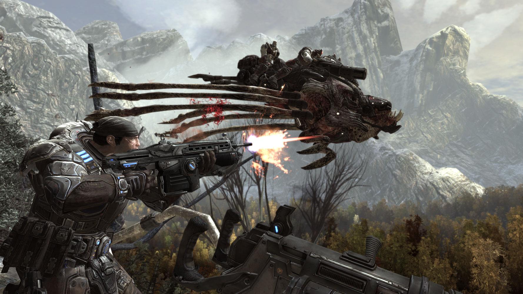 Marcus Fenix in Gears of War 2