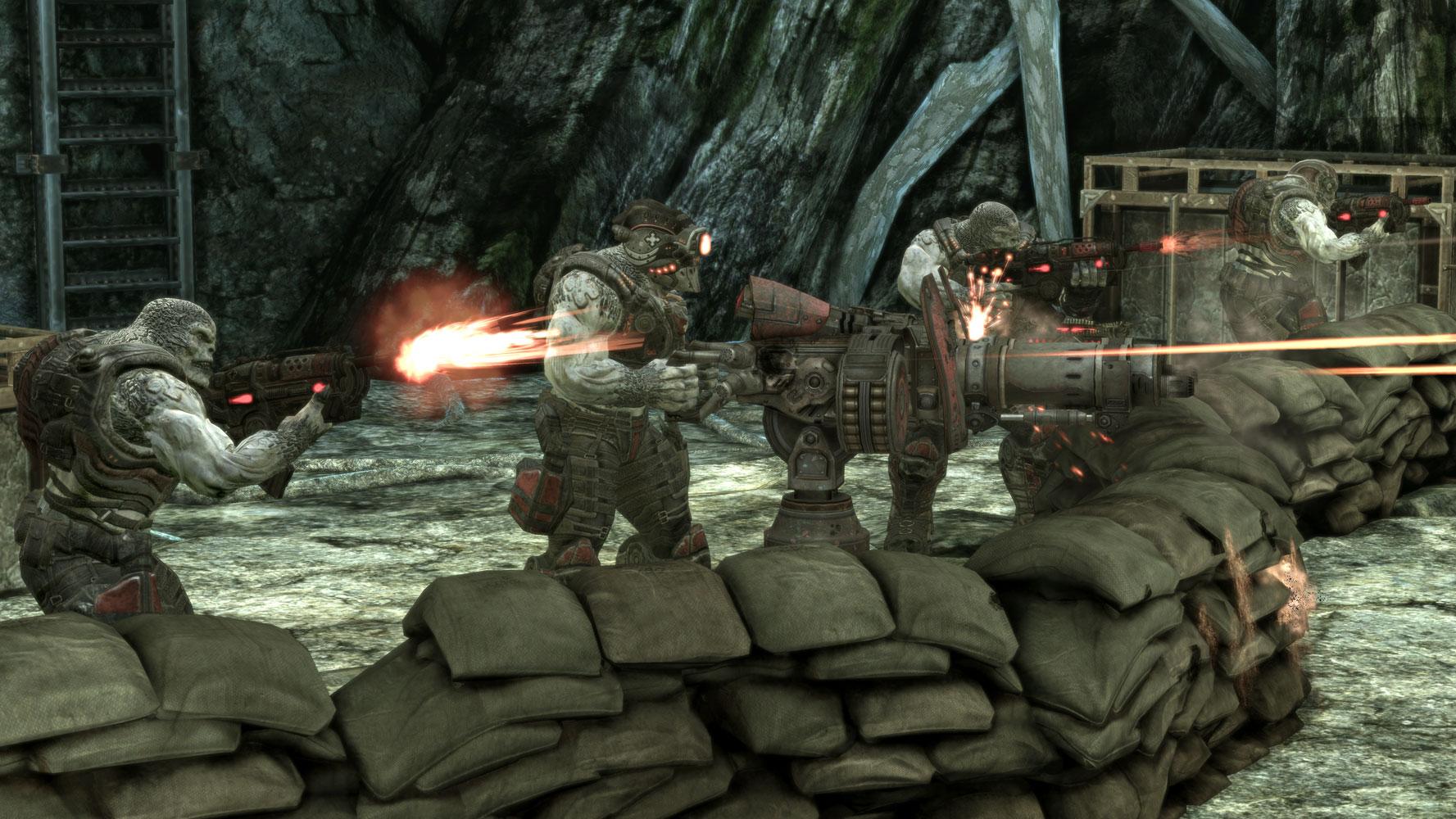 A Locust Outpost in Gears of War 2