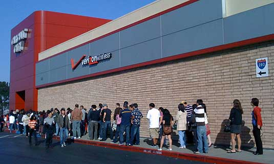 Line Outside Circuit City