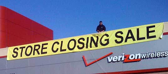 Circuit City--Store Closing Sign