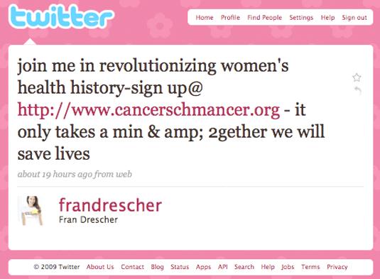 Fran Drescher on Twitter