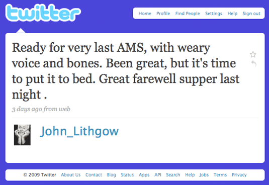 John Lithgow on Twitter