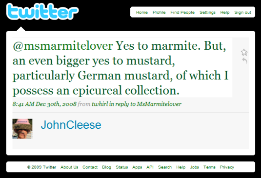 John Cleese on Twitter
