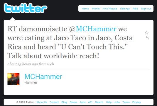 MC Hammer on Twitter