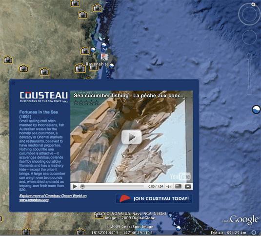 Google Earth 5 Cousteau Video