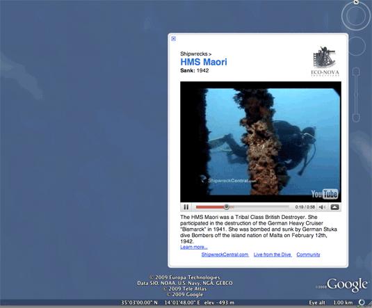 Google Earth Shipwreck
