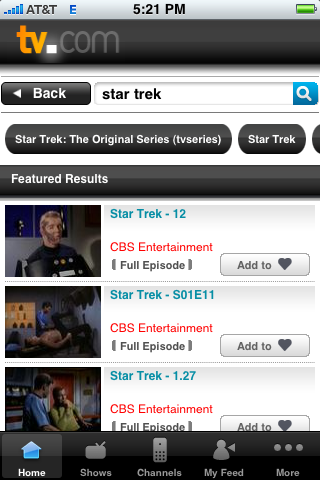 TV.com Star Trek