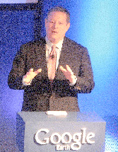 Al Gore at Google Earth Event