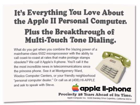 Apple II Phone Ad