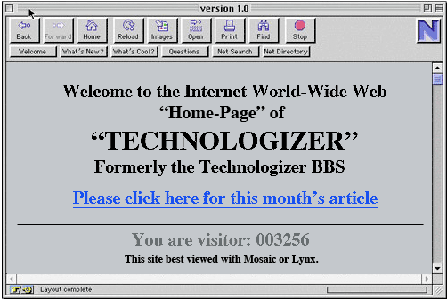 Technologizer Web Site