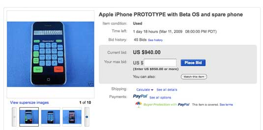 iPhone Auction