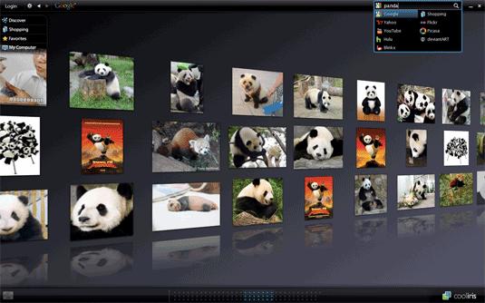 Cooliris Pandas