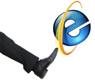 Internet Explorer Gets the Boot