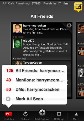 TweetDeck Status Messages