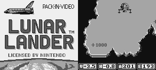 Game Boy Lunar Lander