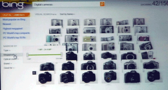 Bing Visual Search--Cameras