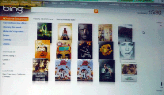 Bing Visual Search--Movies