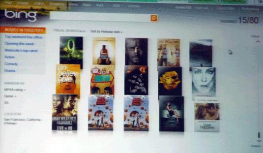 Bing Visual Search--Movies