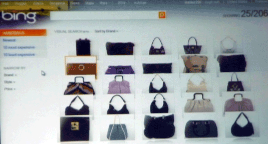 Bing Visual Search--Purses