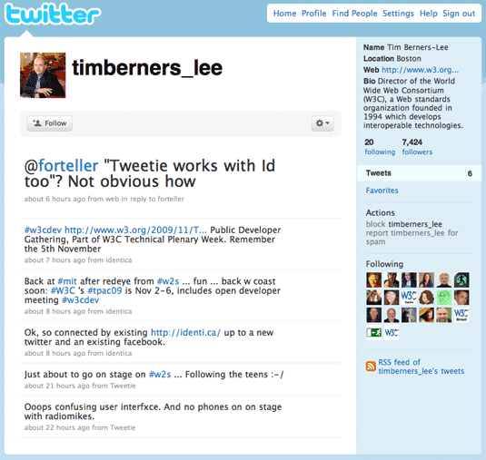 Tim Berners-Lee Twitter