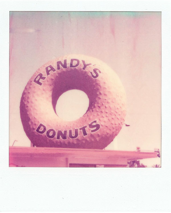 SX-70 photo of Randy's Donuts