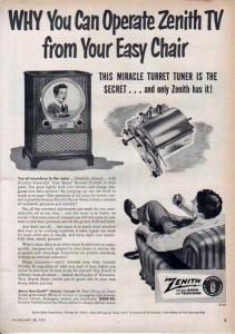 Zenith Lazy Bones remote