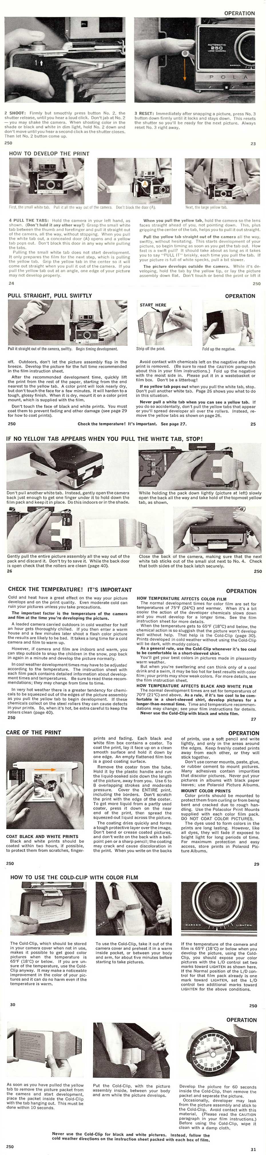 Model 250 instructions