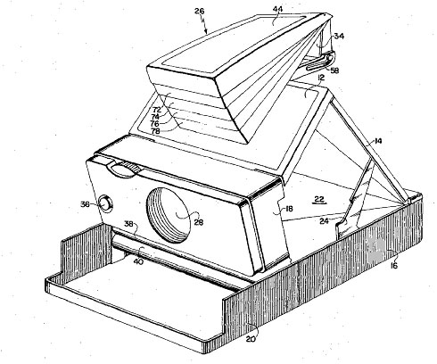 Polaroid SX-70 Patent Drawing