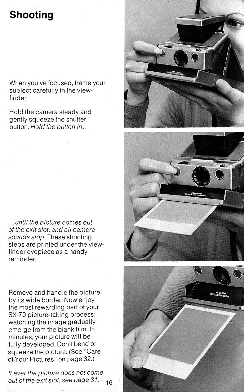 SX-70 instructions