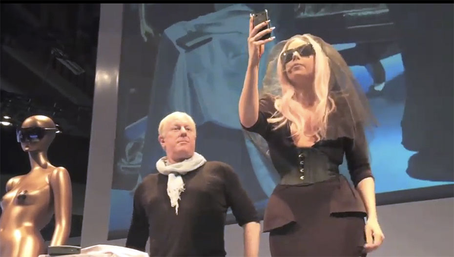 Lady Gaga at Polaroid's CES 2011 Booth