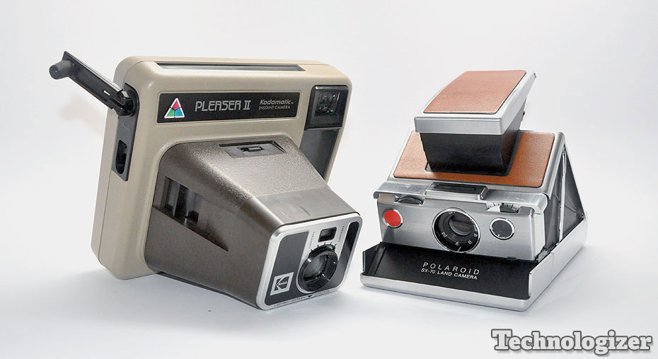 Kodak Pleaser II and Polaroid SX-70