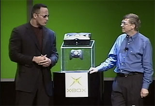 The Rock and Bill Gates introduce the original Xbox.