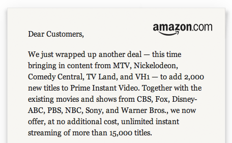 Amazon Letter