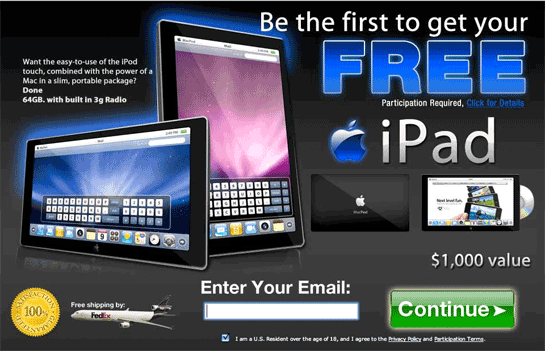 """Oh No, the """"Free iPad"""" Offers Are Here!"""