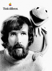 Think Different ad with Jim Henson and Kermit the Frog