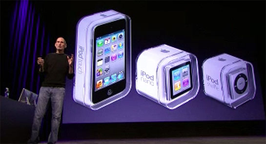 Steve Jobs and New iPods
