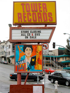 Tower Records closes