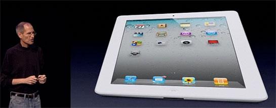 Steve Jobs with the iPad 2