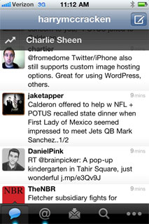 Twitter for iPhone's new Quick Bar