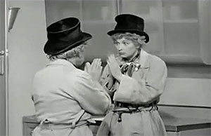Lucille Ball and Harpo Marx