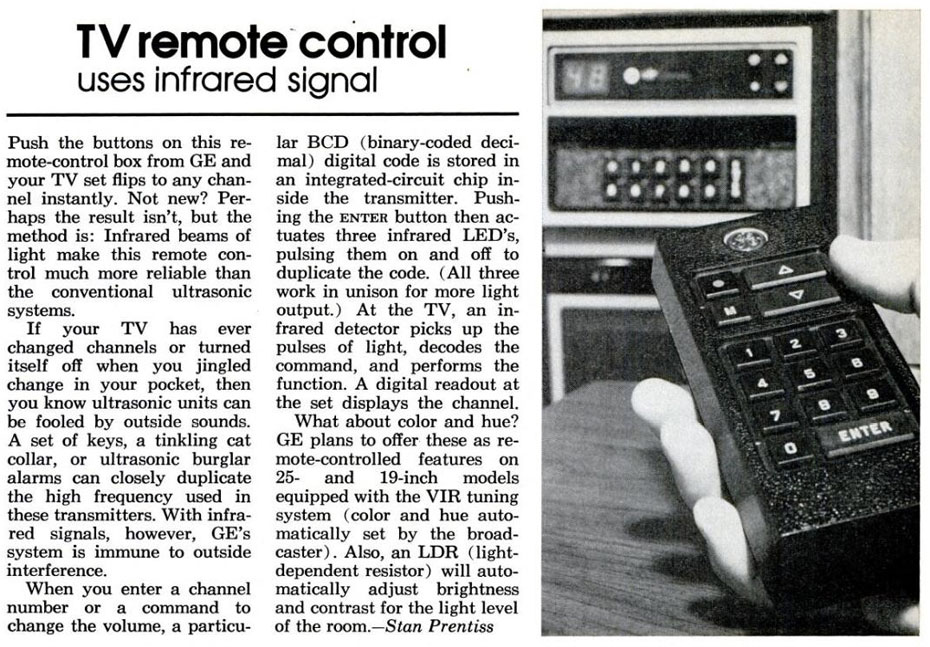 Early Infrared Remote Control