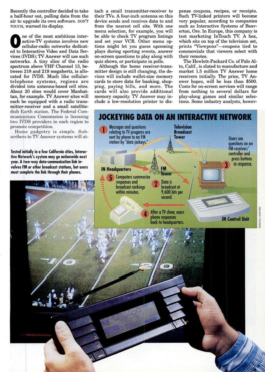 1992 Interactive TV Remote