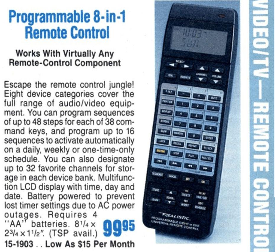 Radio Shack Universal Remote