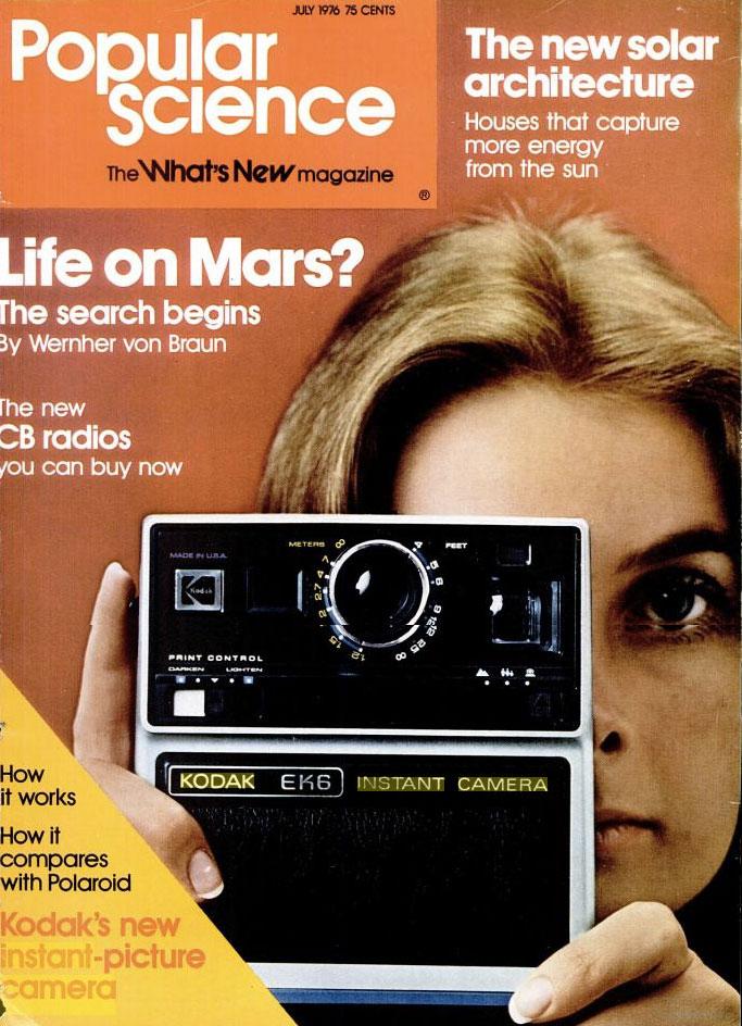 Popular Science Kodak Kodamatic instant camera cover story