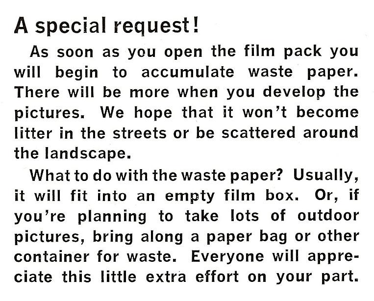 Polaroid Model 250 Special Request