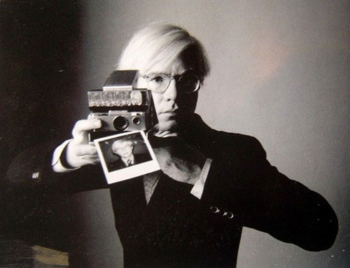 Andy Warhol with an SX-70