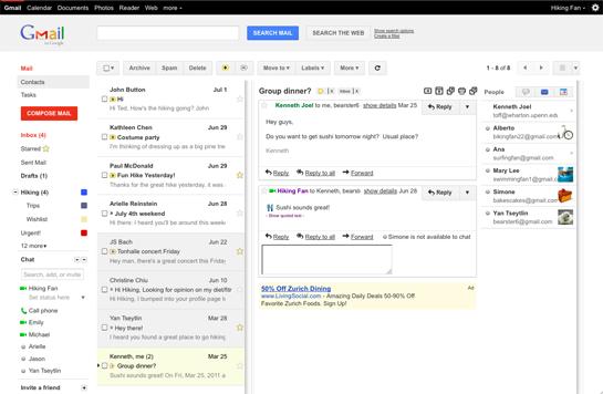 Gmail Preview Pan